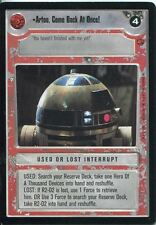 Star Wars CCG Cloud City Card Artoo Come Back At Once