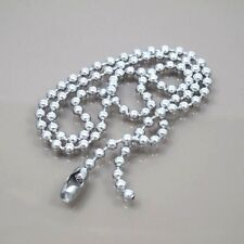 """Silver Stainless Steel 4.5mm Round Bead 24"""" Inches 61CM Mens Ball Chain Necklace"""