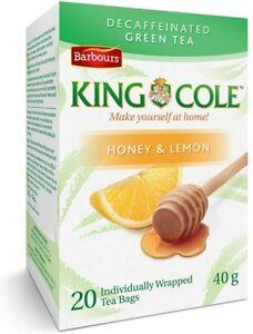 King Cole Decaffeinated Honey Lemon Green Tea 20 Bags 40g Canada