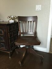ANTIQUE B L MARBLE ARTS & CRAFTS MISSION WOOD OFFICE DESK SIDE CHAIR