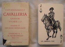 GIOCHI DI CARTE CAVALLERIA - IL MENEGHELLO -  Osvaldo Menegazzi - ANNO 1976