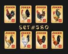 Mah Jongg Jong Mahjong Joker Stickers - Set #580  ** Free Shipping **