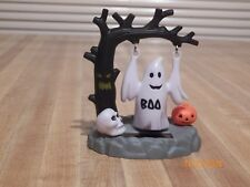 """Solar Dancing Halloween 4"""" Ghost swinging tree skeleton holiday collectible boo"""