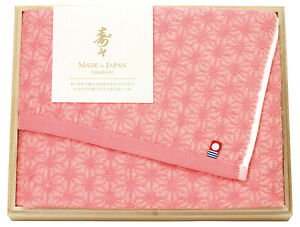 Japanese Collection Jyu Jyu Imabari Bath Towel with Wooden Box set Made in Japan