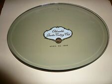 NOS OLDSMOBILE QUARTER CENTURY CLUB OVAL GLASS PLATE - APRIL 24 1965- LOOK!!!