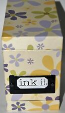 Ink It Full Set of 5 Stampers with Case and ink Vintage