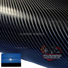 1.5m x 2m 4D Carbon fibre vinyl wrap BLACK sticker car BONNET ROOF FREE SQUEEGEE