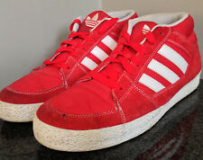 Adidas G06918 Men's 12 Red High Top Canvas & Suede Sneakers Basketball shoes~120