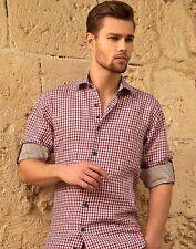 BERTIGO Danilo 29 Gingham Print Long Sleeve Woven Shirt  SIZE XL OR 5 BRAND NEW