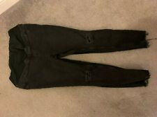 New Look Maternity Size 18 Skinny Jeans With Ripped Knees And Raw Hem With Over