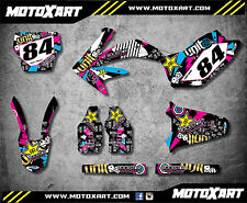 Honda CRF 450 / 2005 2006 2007 Full  Custom Graphic Kit RUSH Style sticker kit