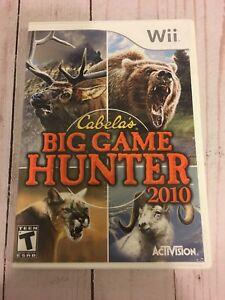 Cabela's Big Game Hunter 2010  Nintendo- Wii Game