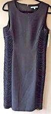 Antonio Melani Women's Black Muriel Crepe  Fringe Sheath Dress Size 12