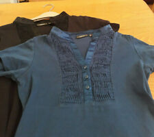 Mexx Tops Size S Blue and Black 2003-2006 Y2K Petite 8-10