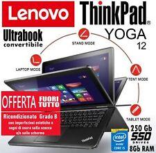 Ultrabook Convertibile Lenovo ThinkPad Yoga 12 - Core i5-5300, 8Gb RAM, 250Gb...
