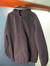 L black ZIP UP POCKET FLEECE jacket by C&B SPORT