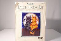 "Wonder Art ""Moonlight Meow"" Latch Hook Kit Rug 15""x20"" /New Open Box /Never Used"