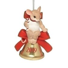 Charming Tails - Let The Joy Of The Year Ring Through Dated 2019 Ornament 132093