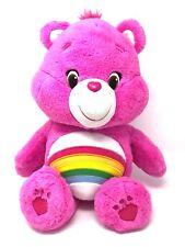 "Care Bears Cheer Bear w/Rainbow Large Plush Stuffed Toy 20"" 2015"
