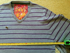 Ringspun Mens Striped Light Cotton Sweater