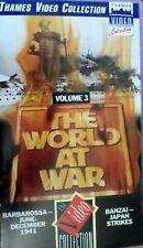 THE WORLD AT WAR VOL 3: BARBAROSSA/BANZAI: JAPAN STRIKES (2 Eps) (PAL VHS Video)