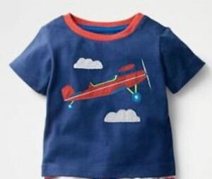 Mini boden baby boys tshirt top  age 3 6 12 18 24 months 2 3 years aeroplane