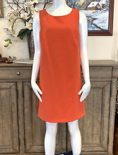 NWT Trina Turk Shift Dress Bright Orange/Pink Layered Size 6