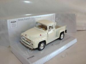 "1956 Ford F-100 Pickup White Die Cast Metal Model 5"" New In Box"