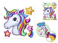 Balloon Blasts UNICORN head shooting star wall stickers 4 big 3D pop-up decals