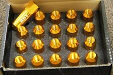 RDT OPEN END GOLD 60MM ALUMINUM M12X1.5MM EXTENDED TUNER LUG NUTS HONDA INTEGRA