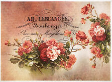 Rice paper -Boulanger Red Roses- for Decoupage Scrapbooking Sheet