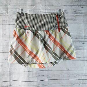Nike Golf Womens Skirt Sz 2 Orange Gray Plaid