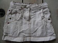 Jupe jeans courte coton blanc surpiqûre marron OKAÏDI Taille 3 Ans / 94 cm