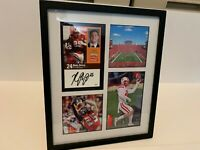 Nate Gerry Nebraska Cornhuskers football autographed signed photo frame Eagles