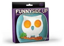 New - Fred Funny Side Up Owl Silicone Egg Art Mould Funny Breakfast