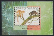 Australia Scott 1490b Xf Mnh 1996 Cuscus Indonesian Joint Issue Souvenir Sheet