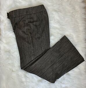 Size 14M - M&S - Trousers Wide Smart Brown Mix Button Detail Immaculate.