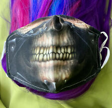 Caesar Planet of the Ape Skull Scary Smile Design Face Cover Mask w. 2 Filters