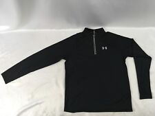 Under Armour Men 1/4 Zip Lightweight Fitted Pullover Sweater Jacket Black Size L
