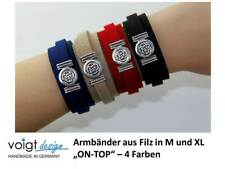 Armband ON-TOP Filz Magnetverschluss Infinity Silber Geschenk Größe M / XL