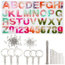 1 Set DIY Key Chain Making Silicone Moulds Letter A~Z Number 0~9 Crafting Making