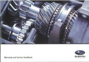 GENUINE SUBARU SERVICE LOG BOOK SA569R MY99 - MY05 NEW