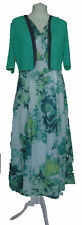 New Womens Marks & Spencer Per Una Green & White Dress Size 14 Long RRP £49.50
