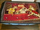 VINTAGE DOGS PLAYING BILLIARDS POOL TAPESTRY WALL HANGING 57X35 APPROX TURKEY