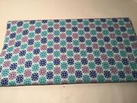 Vintage Quilting Fabric, Cotton 4 Yards +/-, Blue Green Pinkish Purple