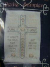 Petite Sampler Cross His Love Cross Stitch Kit   Hanger