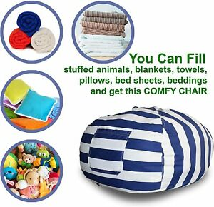 Extra Large Stuffed Animal Storage Bean Bag Cover | Europe Made & Lab Tested