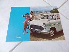Ford Consul 1958 catálogo folleto folleto ventas comerciales prospekt