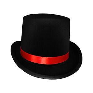 Jack Ripper Day of The Dead Valentines Ringmaster Black Top Hat Lion Tamer Cap
