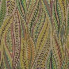 """CLARENCE HOUSE CARINA PAISLEY GREEN FLORAL LEAVES EXCLUSIVE FABRIC BY YARD 54""""W"""
